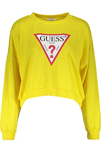 Guess Jeans W92Q54K8K90 Sweatshirt ohne Reißverschluss Damen GELB F29J S - Sweatshirt Jumper Hunter