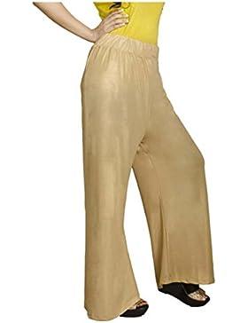 Indian Handicrfats Export Adiboo Regular Fit Women's Gold Trousers