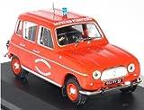 Générique Renault 4L Pompier 1/43 - R4 L Sapeurs Pompiers - Collection Voiture IXO