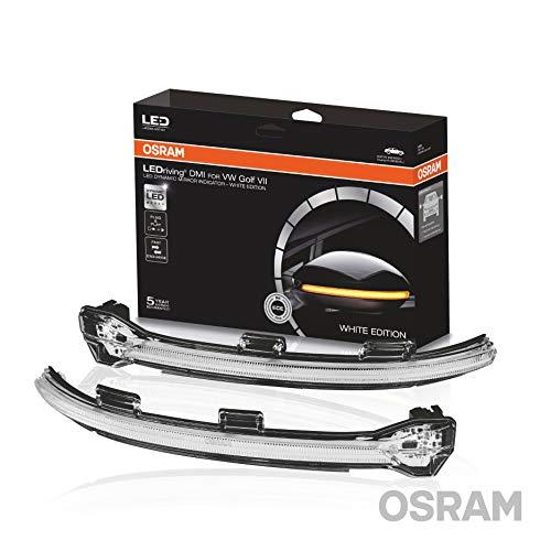 OSRAM LEDriving dynamischer LED Spiegelblinker für VW Golf 7 und Touran - White Edition, LEDDMI 5G0 WT S, 1 Set