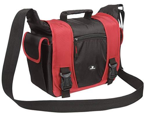 Case4Life Rot/Schwarz DSLR Kamera Schultertasche stoßfest für Fujifilm Finepix HS, S***, SL, X Serie inc S1, SL1000, HS30EXR, HS50, S2980, S4200, S4500, S9200, S9400W, X-S1, S9900W, S9800