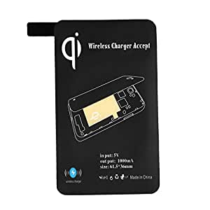 Andoer Qi Charging récepteur inductif Coil Certifié ultra-mince sans fil pour Samsung Galaxy i9600 S5 (Noir)