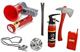 #3: HALO NATION City Fire Station Fireman Fire Rescue Set with Loud Speaker, Extinguisher, Torch , 8 different Accessories - Fancy Dress Cosplay