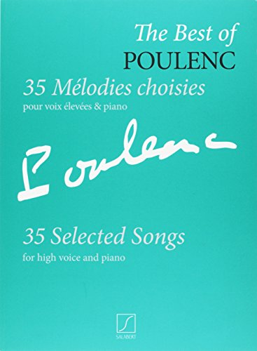 The best of poulenc - 35 melodies choisies chant