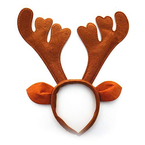 DDG EDMMS Rentier Stirnband Boutique Weihnachten Stirnband Elf Rentier Horn Stirnband Hirsch Stirnband Party Hut für Ostern Halloween Weihnachten Kinder Party Weihnachten Dekoration