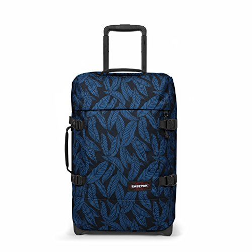 Eastpak Tranverz S Valise, 51 cm, 42 L, Bleu (Leaves Blue)