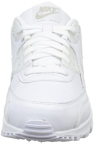 Nike Air Max 90, Baskets Basses Homme Blanc (White/White)