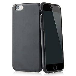 """QUADOCTA Case für iPhone 6 6s (4,7"""") Thin Fit Hülle Kunstleder Tasche für Apple iPhone 6 6s Schutzhülle Bumper mit Soft Feel Coating in schwarz - iPhone6 Cover"""