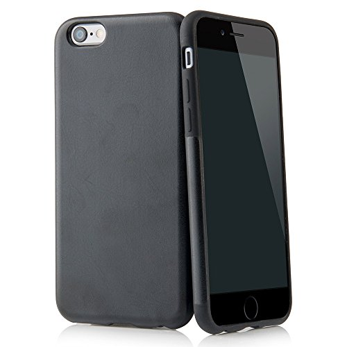 "Custodia per iPhone 6 e 6s Plus (5,5"") custodia Thin Fit in similpelle PU – cover in similpelle PU per iPhone 6 e 6s Plus Apple, custodia di protezione con rivestimento Soft Feel nero di QUADOCTA® nero"