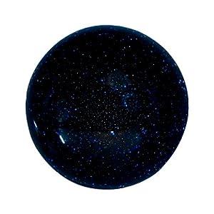 Quiges Austauschbare Mini Coin 12mm Wechselstein Blau Sternenstaub Weltall Stein für Ringe-Ohrringe-Anhänger-Armband Halter