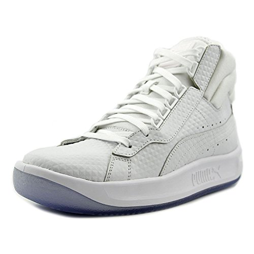 Puma Challenge Embossed Cuir Baskets white