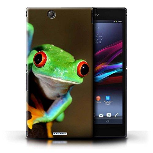 KOBALT® Hülle Case für Sony Xperia Z Ultra   Löwe Entwurf   Wilde Tiere Kollektion Frosch