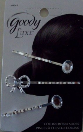 Goody Luxe Collins Fancy Bobby Slides Hair Pins 04043 by Goody