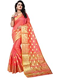 Ecolors Fab Women's Tussar Silk Saree Kanchipuram Style (Latest Sarees Collection 2018 /Party Wear Sarees /New...