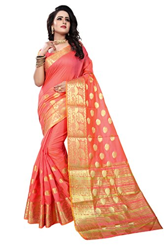 Ecolors Fab Cotton Silk Saree (Gokul_Saree_Pink_Free Size )