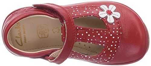 Clarks Elza Delia Fst, Chaussures de ville fille Rouge (Red Interest)