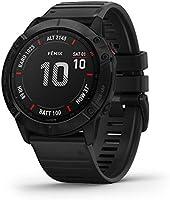 GPS-horloge voor volwassenen, Fenix 6X Pro, 1.4 Pouces d'écran, Zwart met zwarte band