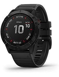 """Garmin Fenix 6 PRO Smartwatch Multisport con misurazione della frequenza cardiaca al polso, Impermeabile, Display da 1,3 """", Lunga durata della batteria, Pagamento senza contatto"""