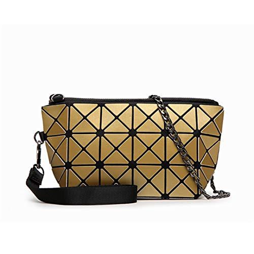 Damen Paket Geometrische Handtaschen Weibliche Clutch Chain Bag Messenger Bags Gold