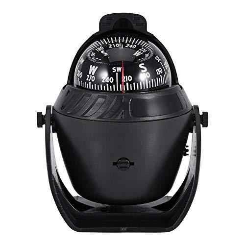 Wuyan Bussola Elettronica di Navigazione orientabile della Bussola della Luce di Alta precisione LED per la Bussola Marina della Barca dell'automobile della Barca, Bussola Leggera del LED,