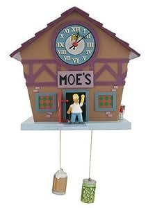 The Simpsons: Moes Bar Pop Out Homer Woo Hoo-Wanduhr
