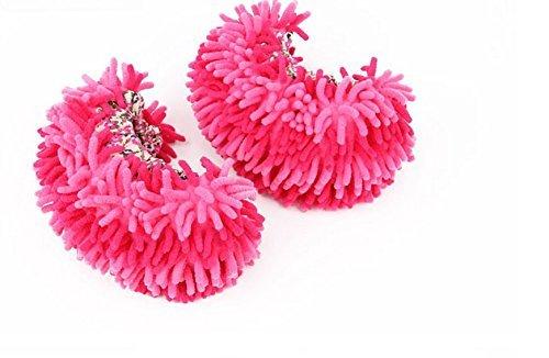 G2PLUS Mikrofaser-Sohle Staubtuch Hausschuhe Putz Pantoffeln Schuhe Bodenreiniger