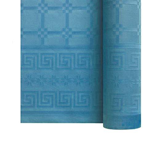 Bissu ️ rotolo tovaglia di carta damascata usa e getta. 25 metri. turchese ️