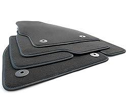 kh Teile Fußmatten Corsa E (Ziernaht Blau) Original Premium Qualität Velours Autoteppich 4-teilig schwarz