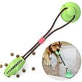 BVAGSS Pet Molars Morso Giocattolo Potente Ventosa Cane Tug Corda Giocattolo Palla Interattivo Toy XH053 (Green)