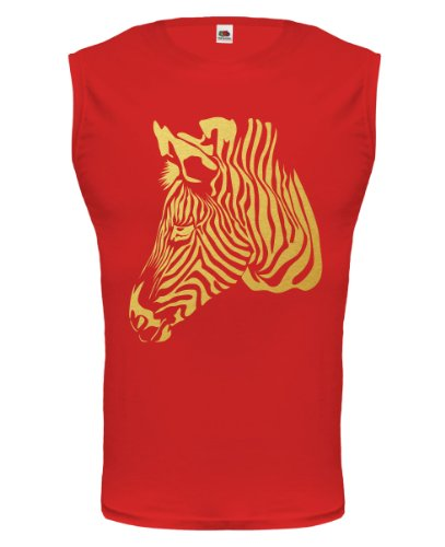 buXsbaum® Tank Top Afrikanisches Wildpferd Red-Gold
