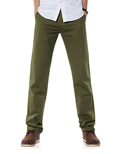 Demon&Hunter 900X Clásico-Fit Seires Hombre Chinos Pantalones DH9006(32)