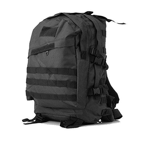 wasserdichte tarnung wandern rucksack leicht 3d verschleißfesten nylon - rucksack 36l-55l großer outdoor - camping klettern pack Black