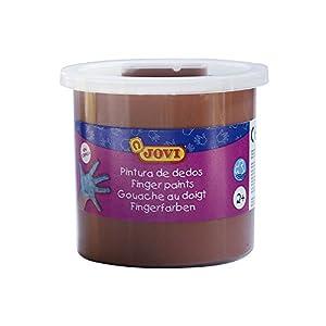 Jovi - Estuche, 5 Botes con Pintura de Dedos, 125 ml, Color marrón (56012)