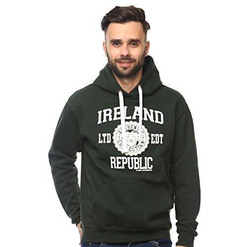"""Kapuzenpullover mit dem Aufdruck """"Ireland Republic"""", waldgrün (Irische Pullover)"""