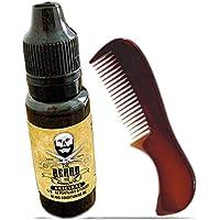 Barba Aceite y peine conjunto. Larga Duración 15 ml botella aceite y tamaño de bolsillo