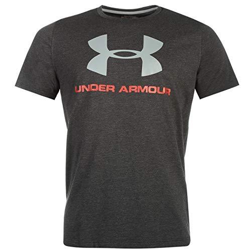 Under Armour Herren CC Sportstyle Logo Kurzarmshirt, Grau (Dark Grey), M -