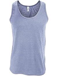 American Apparel Mens Plain Sleeveless Tri-Blend Tank/Vest Top