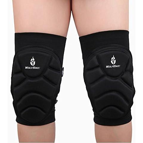 Kingko® ginocchiere sport estremi all'aria aperta proteggono riempie la protezione di calcio ciclismo ginocchio (XL)