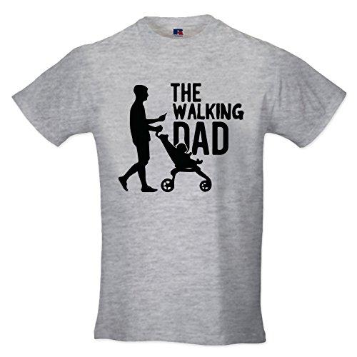 Babloo t shirt maglia maglietta idea regalo per il papa'the walking dad l grigia