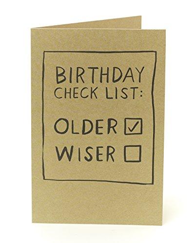 Funny Lustige Geburtstagskarte–Geburtstag Checkliste