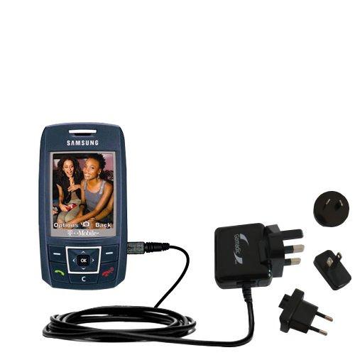 Das Wandsteckdosen-Ladegerät International AC für Samsung SGH-T429 - Das 10 W Ladegerät für Steckdosen und Spannungen weltweit - Mit TipExchange von Gomadic
