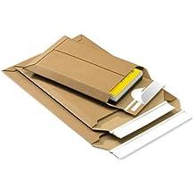 SmartBox 142615114 - Sobres de cartón ondulado (25 unidades, 246 x 357 x 50 mm, 400 g/m² doble cierre adhesivo con precinto de seguridad)