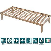 EvergreenWeb - Somier 85x190 para cama a láminas de madera H 35 cm - ortopédico travesera
