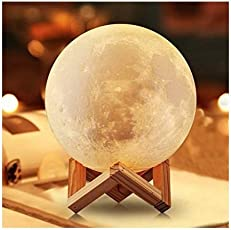 Magnusdeal Robotics 3D Moon Lamp India/Moon Shaped Lamp/Led Moon Lamp/Lunar Moonlight Lamp USB Lamps