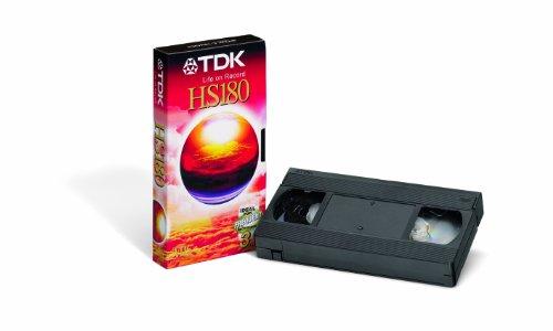 TDK T03157 VHS Videokassette HS-180 (2 Stück) 180 Minuten Laufzeit