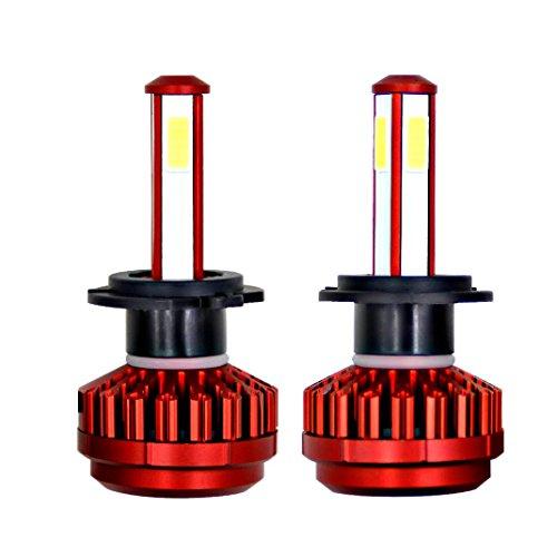 LCLrute Hohe Qualität Paar H7 / H11 / H9 / H8 / 9005/9006 / HB4 / H4 LED Scheinwerfer Kit Buls High Beam Abblendlicht Nebelscheinwerfer 80W 8000LM (H7 R7)