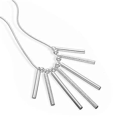 Hot Sale NYKKOLA Elegant Jewelry-Ciondolo placcato in argento Sterling 925 con ciondolo a forma di tubo, per