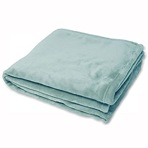 100% Polyster Supersoft Fleece Throw In Duck Egg Blue 140cm x 180cm