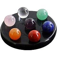 Healifty Chakra Kugeln Set 7 Edelstein Ball mit Obsidian Basis Hexagramm Stand Reiki Heilung Kristalle Home Deko preisvergleich bei billige-tabletten.eu