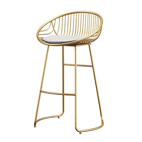 Barhocker Stuhl Fußstütze Gold modern minimalistisch schmiedeeiserner hoher Hocker mit Schwammkissen Rückenlehne Esszimmerstühle für Küchenbar Barhocker max. Laden Sie 150 kg